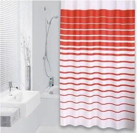 Differnz Lineae Douchegordijn Textiel 180x200 Rood
