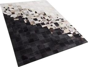 Vloerkleed leer wit/zwart 160 x 230 cm KEMAH