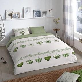 Good Morning Hearts - Groen Lits-jumeaux (240 x 200/220 cm + 2 kussenslopen) Dekbedovertrek