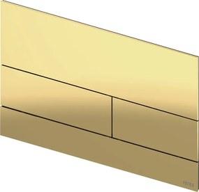 Square 2 bedieningsplaat Gepolijst goud optisch