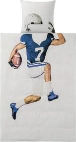 Kinder dekbedovertrek 140 x 200 cm American Football-speler