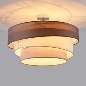 Drielaagse plafondlamp Melia in bruin en grijs - lampen-24