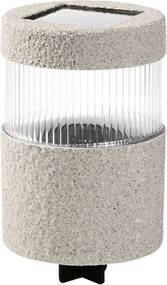 Solar LED-lamp Lichtgrijs, Cilinder