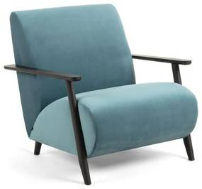 Kave Home Meghan Velvet Fauteuil Turquoise