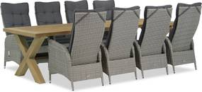 Garden Collections Lincoln/Oregon 300 cm dining tuinset 9-delig