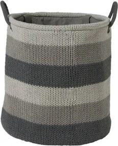Wasmand Sealskin Knitted Acryl Grijs 36x38cm