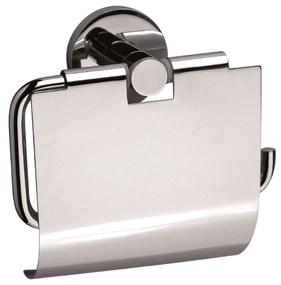 Sanix Round toiletrolhouder met klep chroom