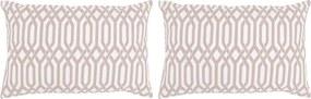 Sierkussens met patroon handgemaakt 40x60 cm taupe 2 st
