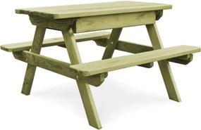Picknicktafel met banken 90x90x58 cm geïmpregneerd grenenhout