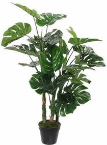 Kunstplant Monstera in Pot Rubber Groen - 100 x ¯75 cm