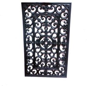 Simpele zwarte deurmat Luxe M