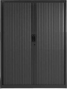 Roldeurkast Proline 160 x 120 cm incl. 3 legborden - Zwart