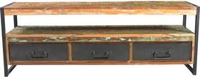 Meerkleurig TV-meubel Van Hout - 155x40x55cm.