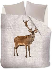 Ambiante dekbedovertrek Cute Deer - beige - 140x200/220 cm - Leen Bakker