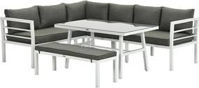 Garden Impressions Blakes lounge dining set 4-delig - wit - moss groen
