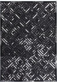 Forte Collectione | Vloerkleed Las Vegas lengte 80 cm x breedte 150 cm x hoogte 0.8 cm zwart, zilverkleurig vloerkleden | NADUVI outlet