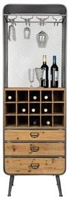 Dutchbone Vino Open Houten Wijnkast - 56x38x170cm.