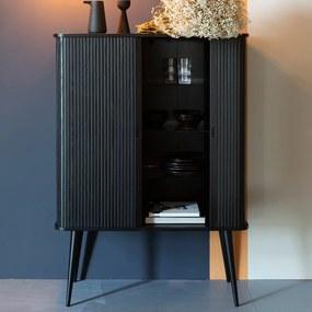 Zuiver Barbier Black Zwarte Design Wandkast - 100x45x140cm.
