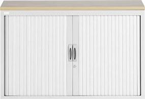 Roldeurkast Proline 74 x 120 cm incl. 1 legbord - Wit