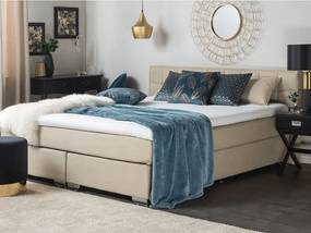 ADMIRAL Boxspringbed Beige Polyester 180x200