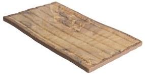 Schaal - houtkleur - 27x15,5 cm