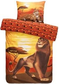 Comfort dekbedovertrek Disney Lion King - lichtbruin - 140x200 cm - Leen Bakker