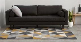 Henrik handgetuft wollen vloerkleed 120 x 180 cm, geel en grijs