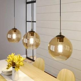 Sofian hanglamp met drie lampjes, amber - lampen-24