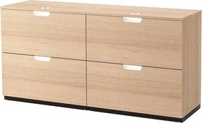 IKEA GALANT Opbergcombi met hangmappenhouder 160x80 cm Wit gelazuurd eiken Wit gelazuurd eiken - lKEA