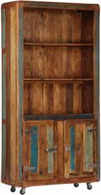 Kast 90x35x183 cm massief gerecycled hout