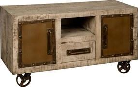 Verrijdbaar Tv-meubel - 120x46x63cm.