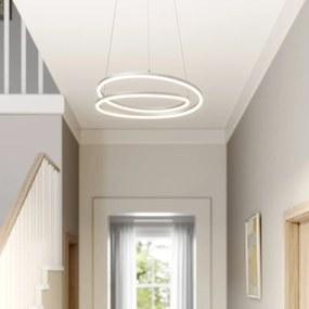 Davian LED hanglamp, dimbaar, nikkel - lampen-24