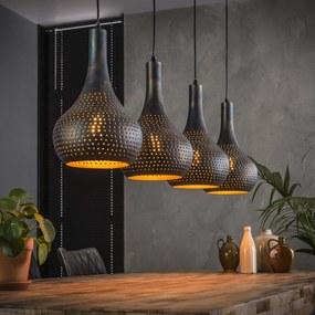 4-lichts Metalen Kegellampen