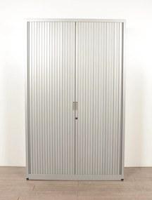 Roldeurkast, aluminium, 198 x 120 cm, incl. 4 legborden *ster 2*