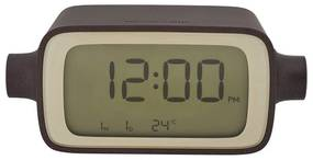 Lexon alarm clock rotation LR135 - bruin/oranje