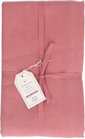 Tafelkleed, katoen, oud roze, Ø 180 cm