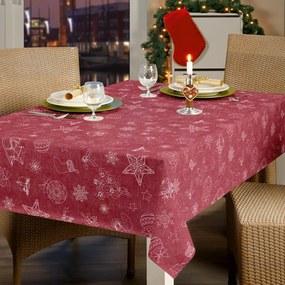 Kerst Tafelzeil Christmas Linen Rood