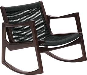 ClassiCon Euvira schommelstoel bruin onderstel koord zitting