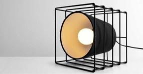 Ozzy kubus tafellamp, zwart
