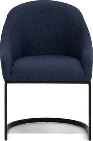 Rivièra Maison - Retro Armchair, melane weave, denim blue