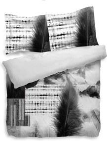 Heckett & Lane dekbedovertrek Ace - zwart/wit - 260x200/220 cm - Leen Bakker