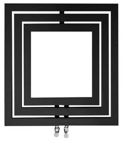 Designradiator Sapho Monopoli 60x60 cm 312W Antraciet