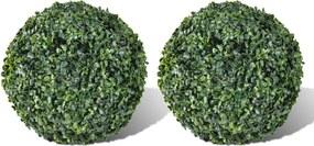 Buxusbollen kunstplant 27 cm 2 st