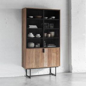 DTP Home Odeon Vitrinekast Van Teakhout - 120x40x220cm.