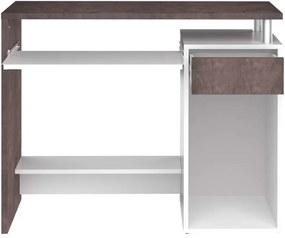 Symbiosis bureau Lesund - wit/betongrijs - 79,2x99x50 cm - Leen Bakker