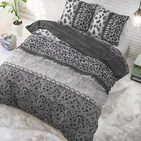 DreamHouse Bedding Trendy Panther - Antraciet 1-persoons (140 x 220 cm + 1 kussensloop) Dekbedovertrek