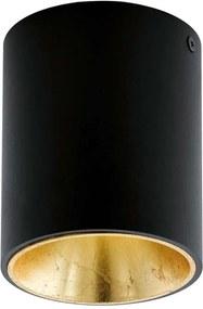 EGLO plafondspot Polasso - zwart/goud - Ø10 cm - Leen Bakker
