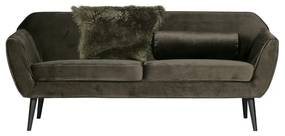 Woood Rocco Fluwelen Sofa Warm Groen