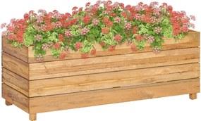 Plantenbak verhoogd 100x40x38 cm gerecycled teakhout en staal