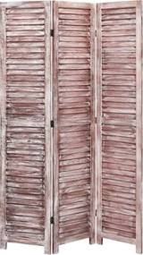Kamerscherm met 3 panelen 105x165 cm hout bruin